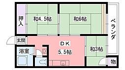 兵庫県西宮市甲子園口5丁目の賃貸マンションの間取り