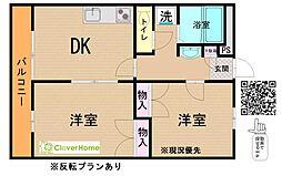 神奈川県相模原市緑区原宿南2丁目の賃貸アパートの間取り