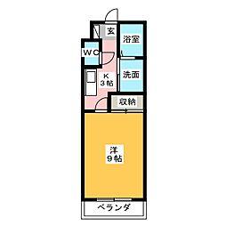 プラチナムステータスタワー[9階]の間取り