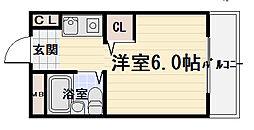 大阪府守口市日吉町2丁目の賃貸マンションの間取り