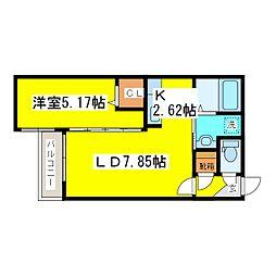 北海道札幌市東区北十一条東6丁目の賃貸マンションの間取り