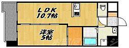 福岡県北九州市小倉北区室町3丁目の賃貸マンションの間取り