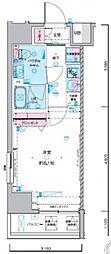 ジェノヴィア東神田グリーンヴェール 7階1Kの間取り