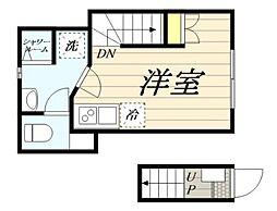 高松2丁目計画 2階ワンルームの間取り