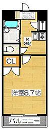 第5筑水ビル[506号室]の間取り