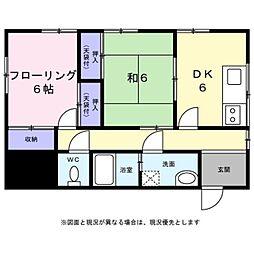 [一戸建] 東京都八王子市絹ケ丘2丁目 の賃貸【/】の間取り