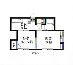 神奈川県座間市立野台1丁目の賃貸アパートの間取り