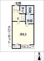 クレフラスト大同 A棟[1階]の間取り