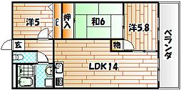 セントラルパーク浅生[8階]の間取り