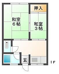 江文化[2階]の間取り