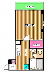 リアライズ 西原の閑静な住宅街に位置する外観タイル貼りマンシ[2階]の間取り