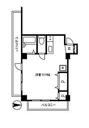 パレス代々木 人気の代々木5丁目 リニューアルマンション[2階]の間取り