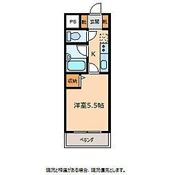 クレストンコート[1階]の間取り