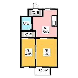 シティハイツ杉浦[1階]の間取り
