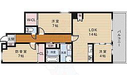 大阪モノレール本線 少路駅 徒歩15分の賃貸マンション 1階3LDKの間取り