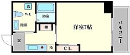JJコート市岡元町[8階]の間取り