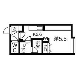 KIRA[403号室]の間取り