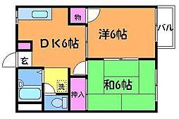 コーポ相沢A[1階]の間取り