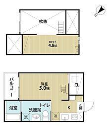 uno(ウノ)[1階]の間取り
