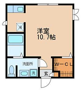 間取り,ワンルーム,面積27.5m2,賃料6.7万円,日暮里舎人ライナー 西新井大師西駅 徒歩5分,日暮里舎人ライナー 谷在家駅 徒歩8分,東京都足立区谷在家2丁目