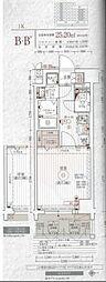 エステムコート京都東寺朱雀邸 5階1Kの間取り
