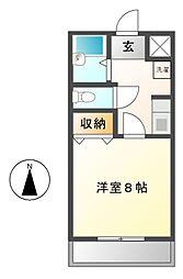 ティエリア豊田[1階]の間取り