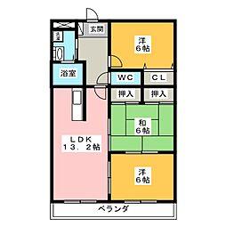 ディアコートSAKURADAI B棟[3階]の間取り