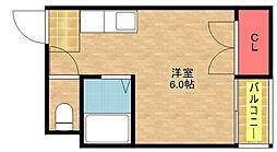 セラ北加賀屋B[4階]の間取り