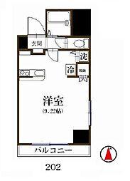 ディアリスト浅草[2階]の間取り