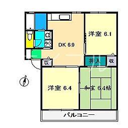 サンマリノ A棟[2階]の間取り