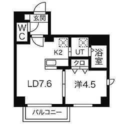 GARE89[3階]の間取り