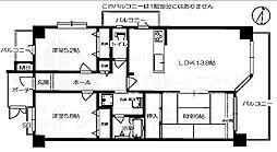 ヴェルデサコート桜ヶ丘 - Aタイプ[501号室]の間取り