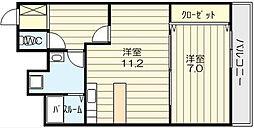 アパルトタツミ[6階]の間取り
