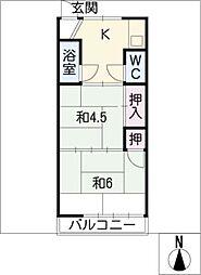 第2みゆき荘[2階]の間取り