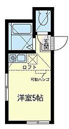 神奈川県横須賀市公郷町3丁目の賃貸アパートの間取り