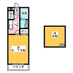 ピュアモール1[3階]の間取り
