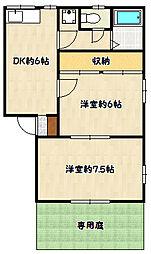 兵庫県神戸市兵庫区会下山町2丁目の賃貸アパートの間取り