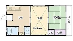 メゾン・ド・広田[2階]の間取り