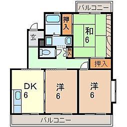 静岡県沼津市五月町の賃貸マンションの間取り