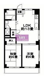 横浜ハイツ[5階]の間取り