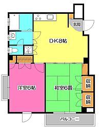 ファミールT.S.B[2階]の間取り