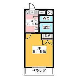 フォーワードハイツ勝川[3階]の間取り