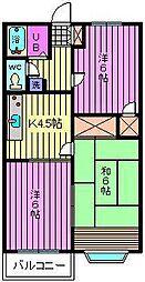 メゾンレックス[1階]の間取り