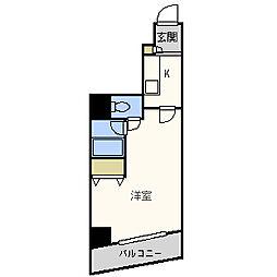 パシフィック九条駅前[7階]の間取り