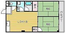 マンション伊吹[203号室]の間取り