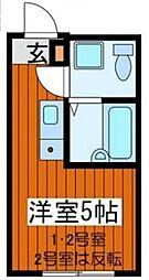 MAHARO RESIDENCE東尾久 〜マハロレジデンス東尾久〜[2階]の間取り
