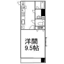 仙台市営南北線 広瀬通駅 徒歩7分の賃貸マンション 4階1Kの間取り