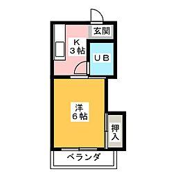 コーポ飛島 B[2階]の間取り