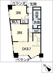 Mica Stage神宮南[6階]の間取り