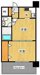 エステートモア平尾センティモ[4階]の間取り